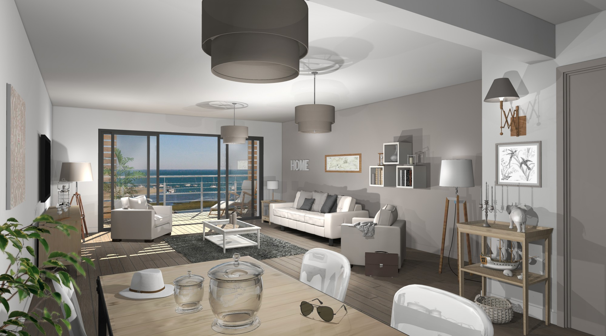 arcachon quartier de l 39 aiguillon appartement neuf avec toit terrasse vue mer barnes bassin d. Black Bedroom Furniture Sets. Home Design Ideas