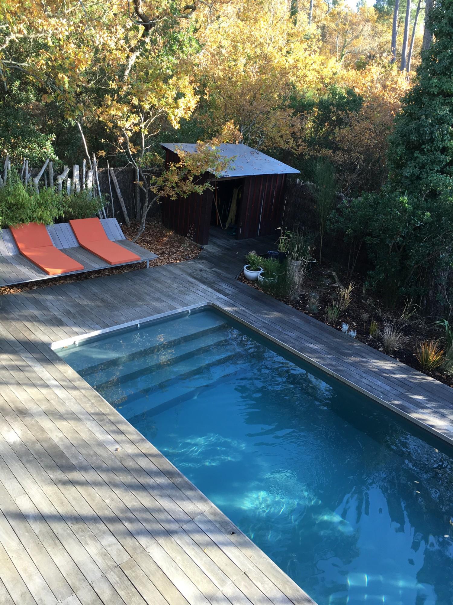 Achat pyla sur mer villa en bois avec piscine barnes for Achat bassin