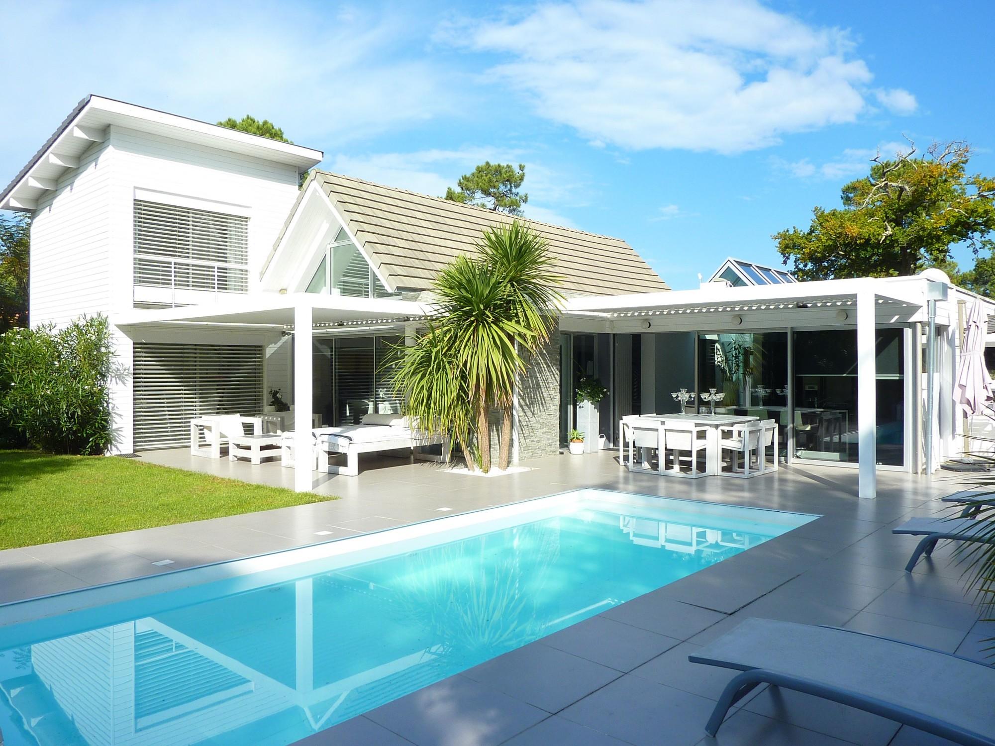 arcachon moulleau abatilles villa d 39 architecte contemporaine avec piscine barnes bassin d 39 arcachon
