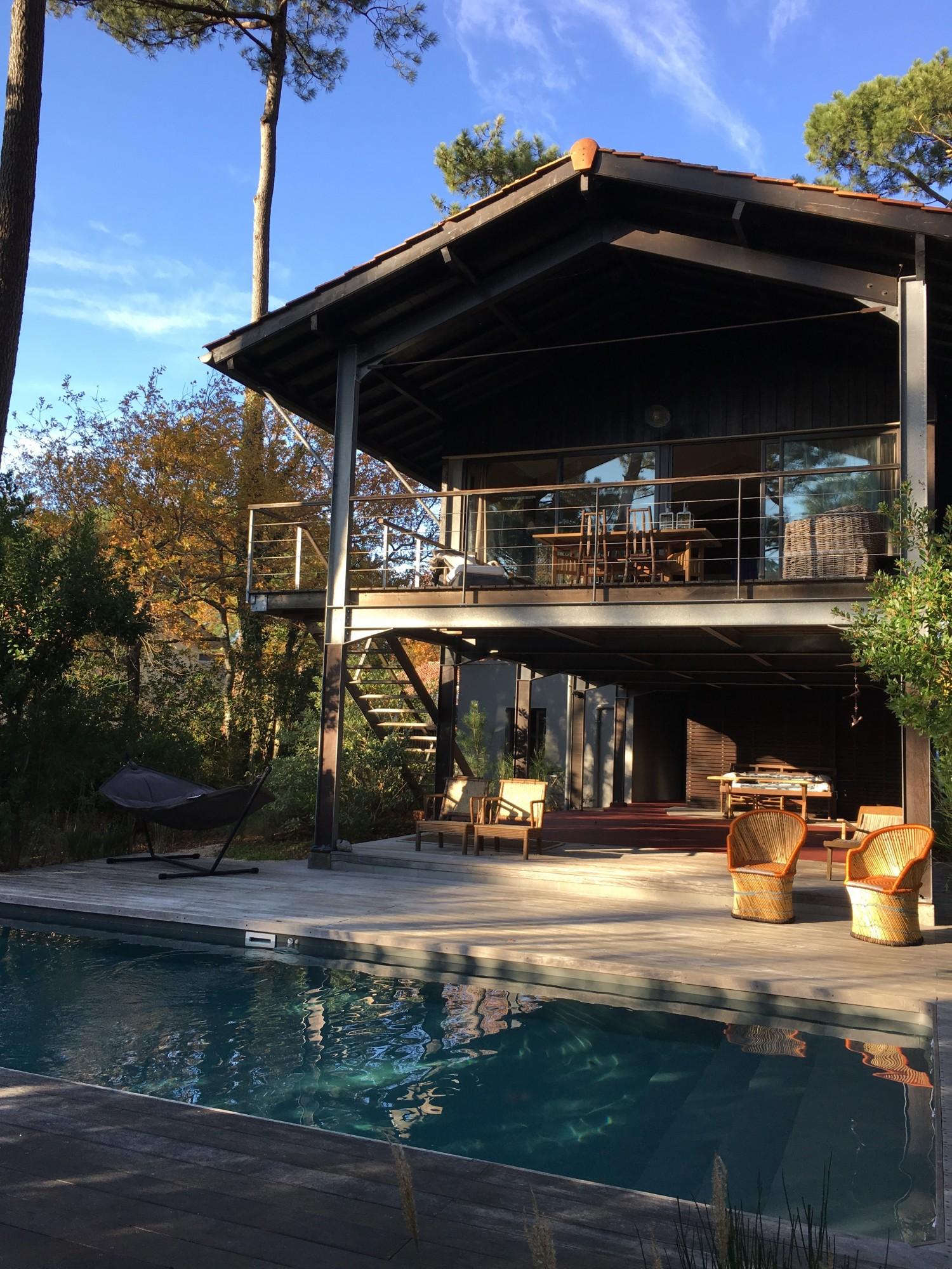 Achat pyla sur mer villa en bois avec piscine barnes - Camping bassin d arcachon avec piscine ...