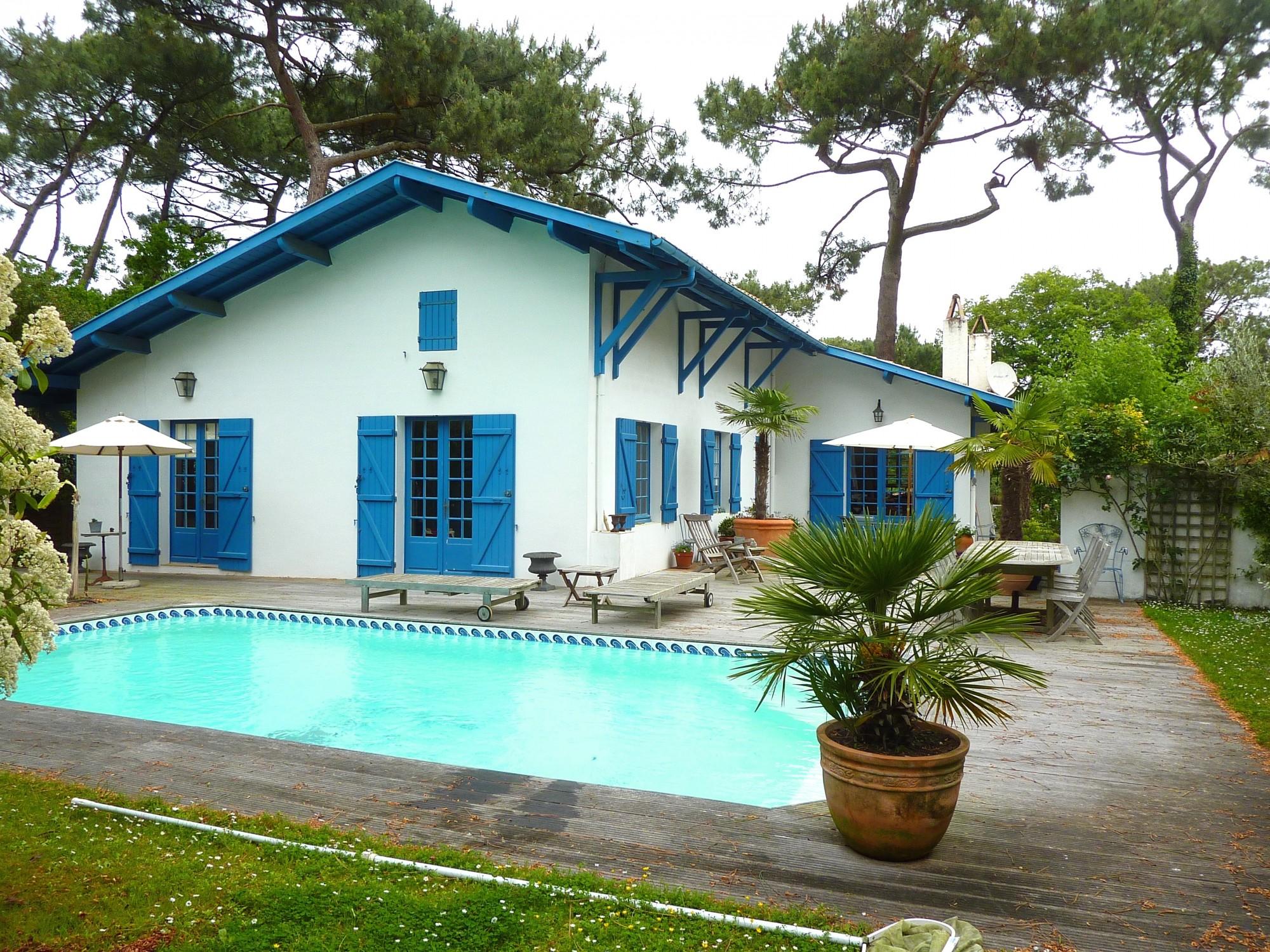 Achat maison pyla sur mer quartier de la corniche typique - Camping dune du pyla avec piscine ...