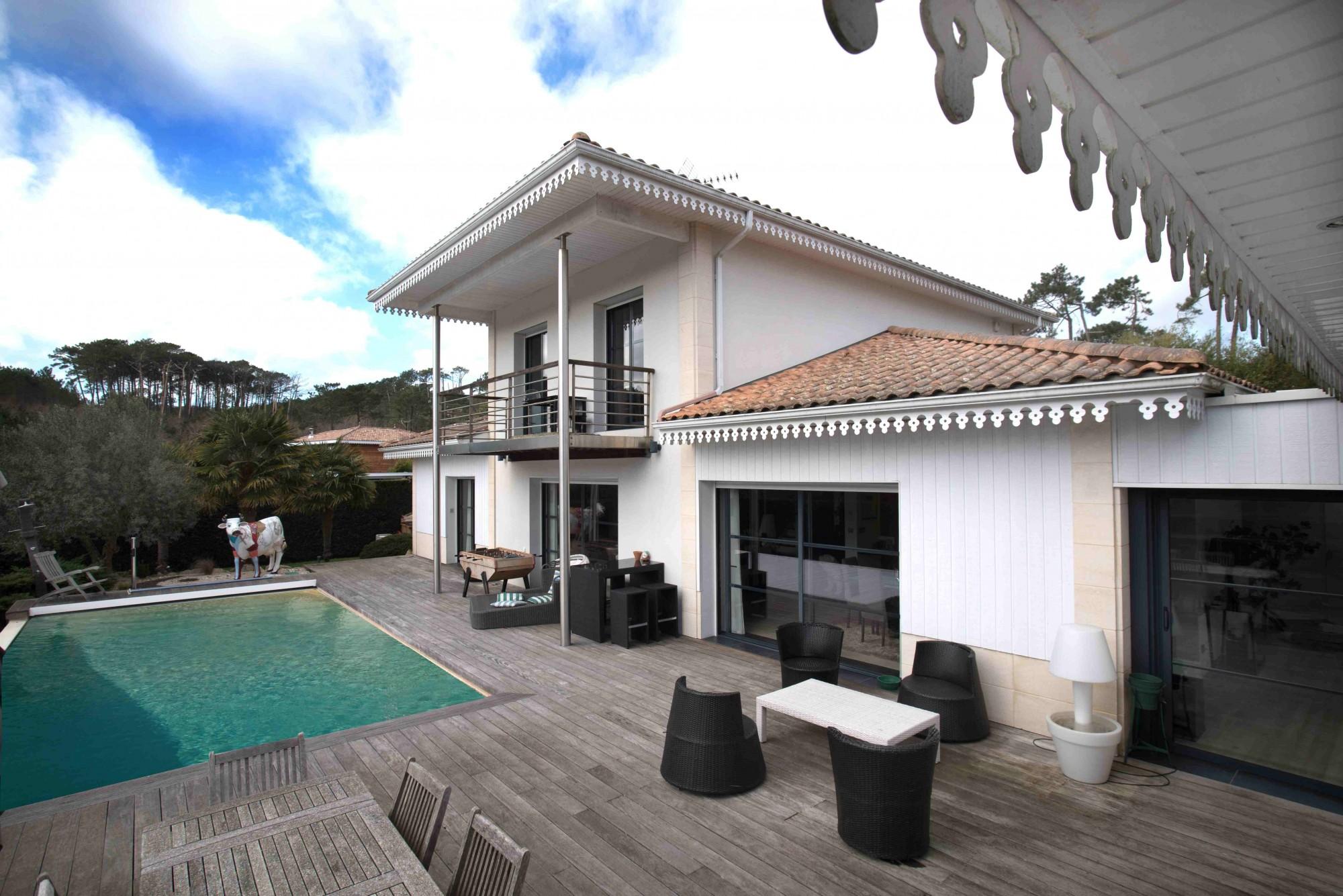 Proche pyla belle villa contemporaine avec piscine barnes bassin d 39 arca - Belle villa avec piscine ...